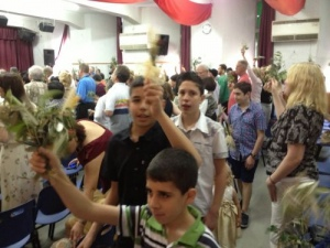 Local Baptist Church and Upper Nazareth Baptist Church Celebrate Palm Sunday Together