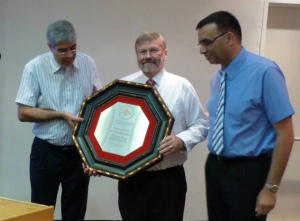 Baptists in Israel pay tribute to Rev. Dr. Bryson Arthur and his wife May as they leave Israel