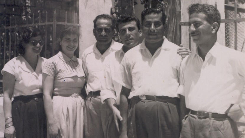George and Antoinette Laty with friends in Nazareth during the early 1950-s