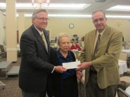 Wilshire Baptist Church Honors Missionaries by Presenting Scholarship for a Student of Nazareth Baptist School